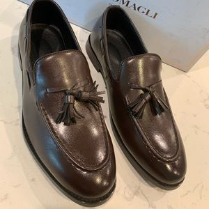Bruno Magali Fabiolo Cognac Men Dress Shoes S 8.5